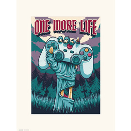 PRINT 30X40 CM GAMER ONE MORE LIFE