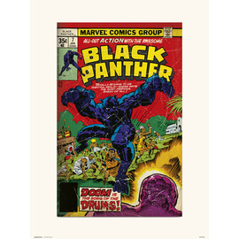PRINT 30X40 CM MARVEL BLACK PANTHER 7