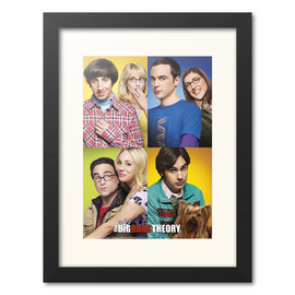 PRINT ENMARCADO 30X40 CM THE BIG BANG THEORY MOSAICO