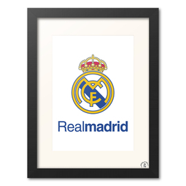 PRINT ENMARCADO 30X40 REAL MADRID - ESCUDO REAL