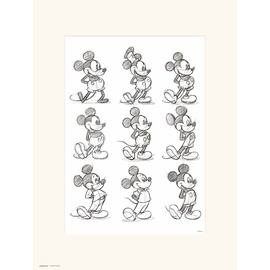 PRINT 30X40 CM DISNEY MICKEY SKETCH
