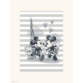 PRINT 30X40 CM DISNEY MICKEY & MINNIE PARIS