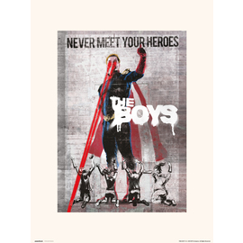 PRINT 30X40CM THE BOYS NEVER MEET YOUR HEROES