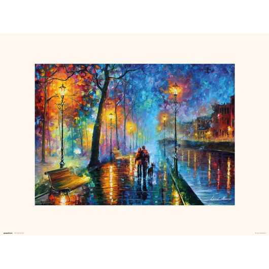 PRINT 30X40 CM ROMANTIC COUPLE LEONID AFRÉMOV