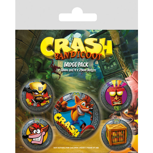PACK CHAPAS CRASH BANDICOOT POP OUT
