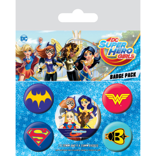 PACK CHAPAS DC SUPER HERO GIRLS LOGOS