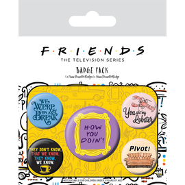 PACK CHAPAS FRIENDS QUOTES