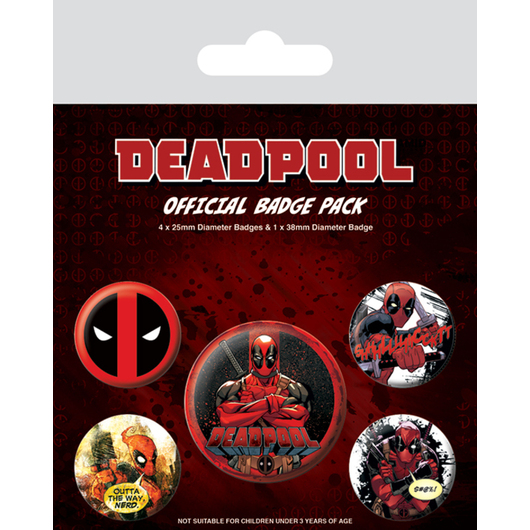 PACK CHAPAS DEADPOOL