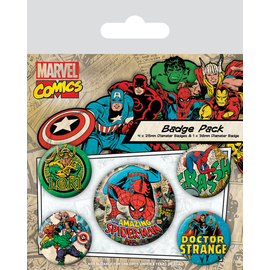 PACK CHAPAS MARVEL RETRO (SPIDERMAN)