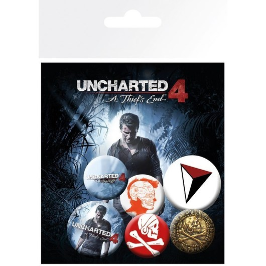 PACK CHAPAS UNCHARTED 4 MIX