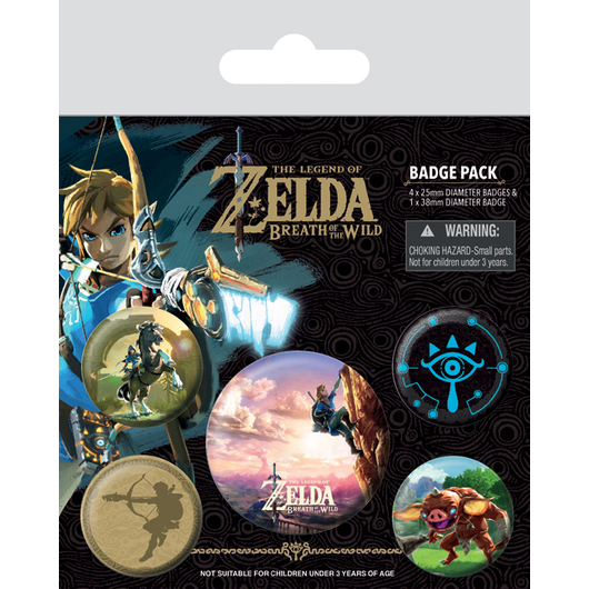 PACK CHAPAS THE LEGEND OF ZELDA BREATH OF THE WILD THE CLIMB