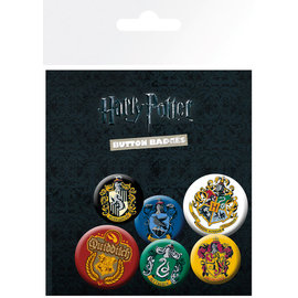 PACK CHAPAS HARRY POTTER CRESTS