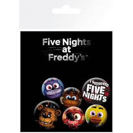 PACK CHAPAS FIVE NIGHTS AT FREDDYS