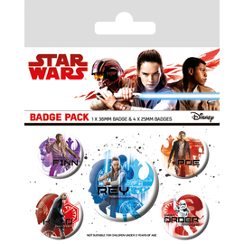 PACK CHAPAS STAR WARS THE LAST JEDI ICONS