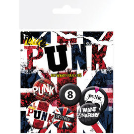 PACK CHAPAS PUNK UNION JACK