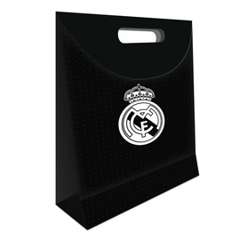 BOLSA REGALO GRANDE REAL MADRID NEGRA
