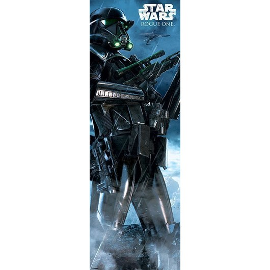 POSTER PUERTA STAR WARS ROGUE ONE DEATH TROOPER RAIN