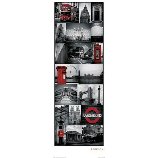 POSTER PUERTA LONDON COLLAGE