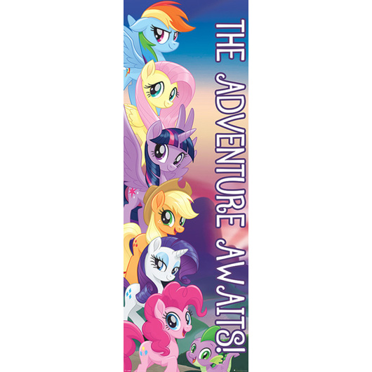 POSTER PUERTA MY LITTLE PONY MOVIE THE ADVENTURE AWAITS