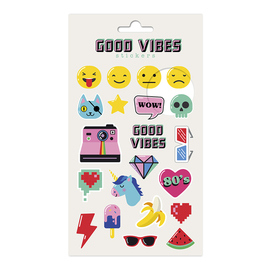 SET STICKERS GOOD VIBES