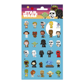 SET STICKERS STAR WARS 8BITS