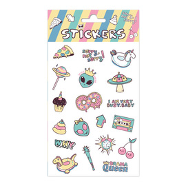 SET STICKERS FLUOR