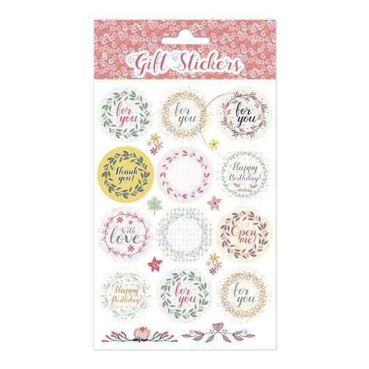 SET STICKERS CORONAS FLORES