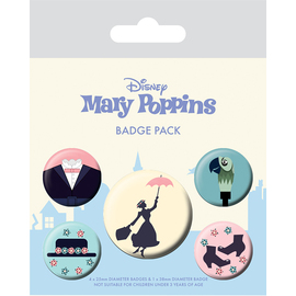 PACK CHAPAS DISNEY MARY POPPINS
