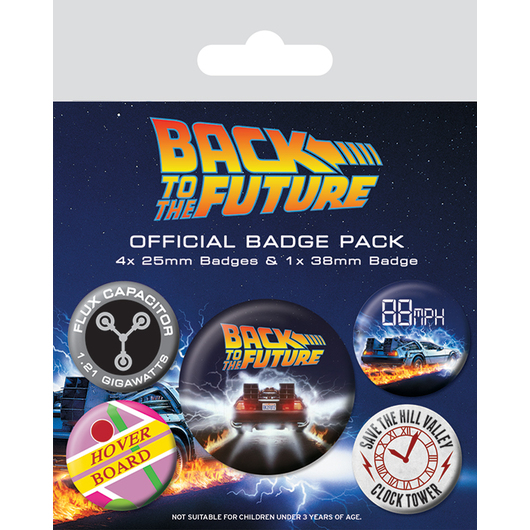 PACK CHAPAS BACK TO THE FUTURE DELOREAN