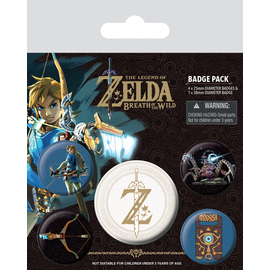 PACK CHAPAS TEHE LEGEND OF ZELDA BREATH OF THE WILD Z EMBLEM