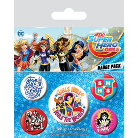 PACK CHAPAS DC SUPER HERO GIRLS