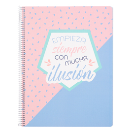 CUADERNO TAPA POLIPROPILENO A4 5X5 MICROPERFORADO AMELIE PASTEL COLLECTION