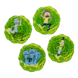 POSAVASOS 3D RICK & MORTY