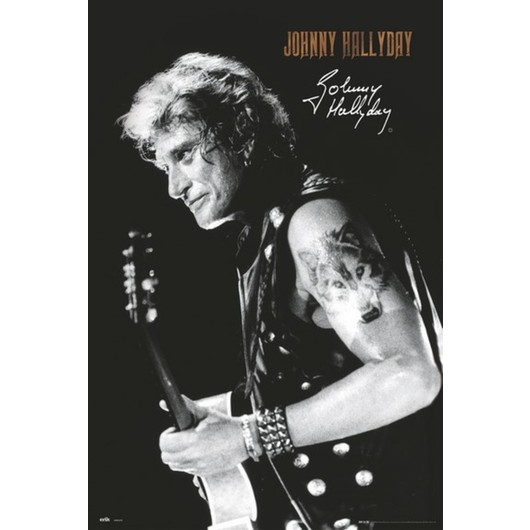 POSTER JOHNNY HALLYDAY SIGNATURE