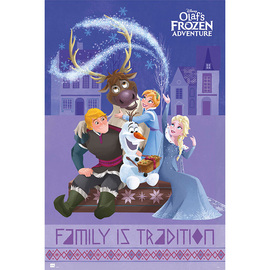 POSTER DISNEY FROZEN OLAF ADVENTURE ALL CHARACTERS