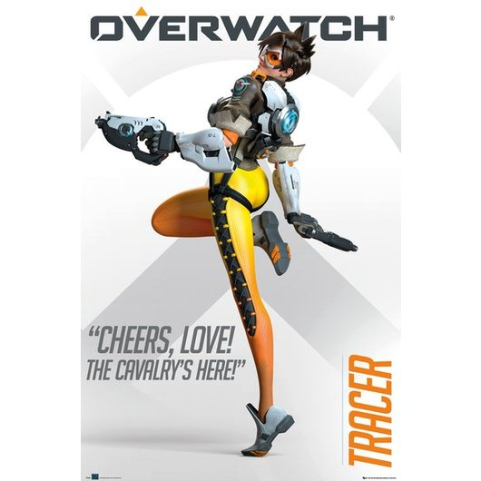 POSTER OVERWATCH TRACER CHEERS LOVE