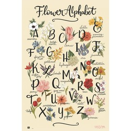 POSTER LILY & VAL FLOWERS ALPHABET