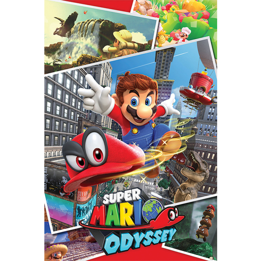 POSTER SUPER MARIO ODYSSEY COLLAGE