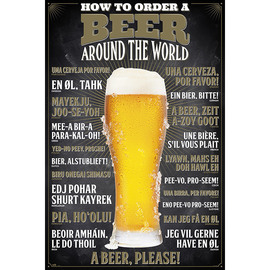 POSTER HOW TO ORDER A BEER