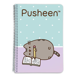 CUADERNO TAPA DURA A5 5X5 PUSHEEN THE CAT
