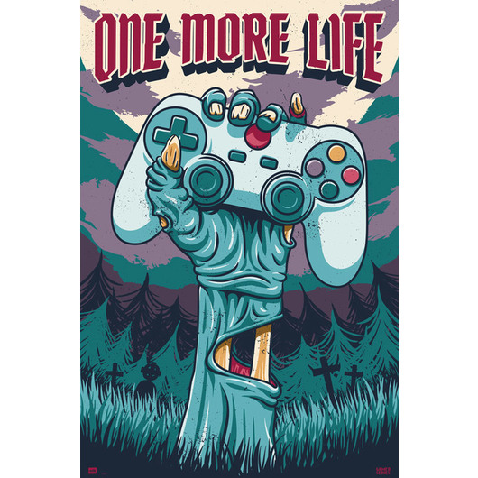 POSTER GAMER ONE MORE LIFE