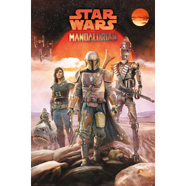 POSTER STAR WARS THE MANDALORIAN CREW