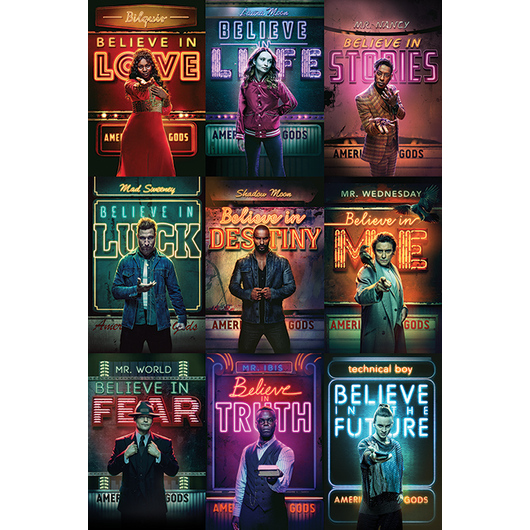 POSTER AMERICAN GODS CHARACTERS