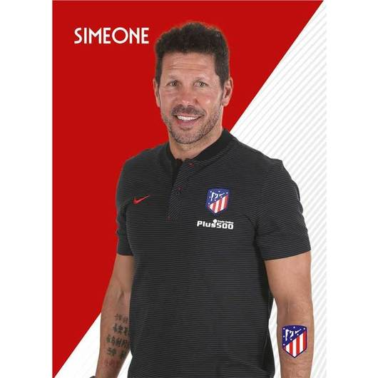 POSTAL ATLETICO MADRID 2017/2018 SIMEONE