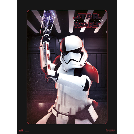 PRINT 30X40 CM STAR WARS VIII EXECUTIONER TROOPER
