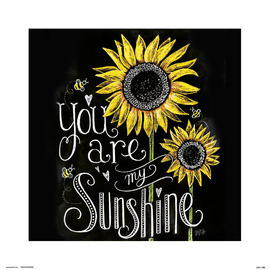 PRINT 30X30 CM LILY & VAL YOU ARE MY SUNSHINE