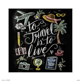PRINT 30X30 CM LILY & VAL TO TRAVEL IS TO LIVE