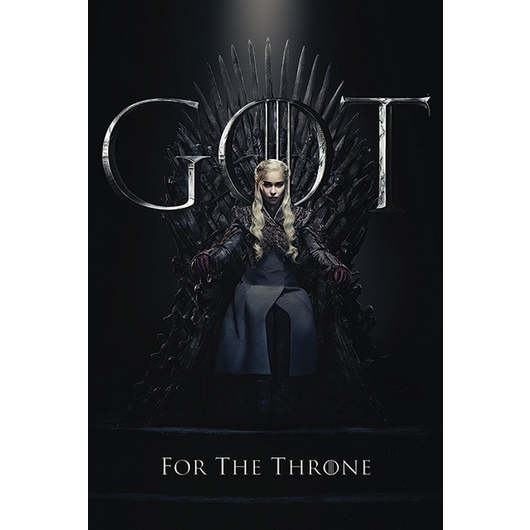 POSTER GAME OF THRONES DAENERYS FOR THE THRONE