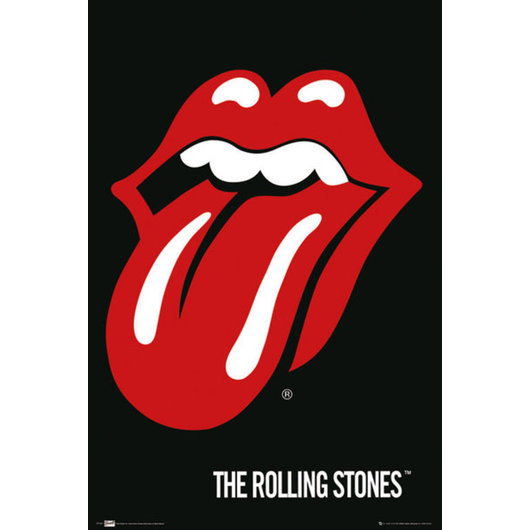 POSTER THE ROLLING STONES LIPS