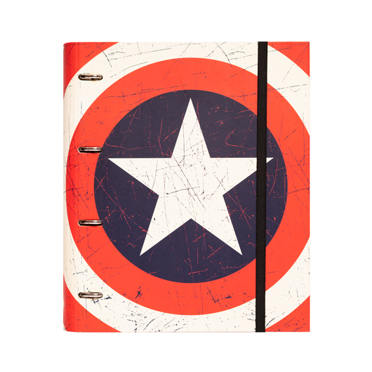CARPETA 4 ANILLAS TROQUELADA PREMIUM MARVEL CAPTAIN AMERICA SHIELD